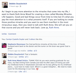 Debbie Dusylovitch miracle monday endorsement